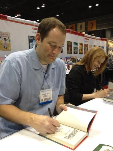 Signing next to the incredibly charming Brandon Mull. (who killed it in our Reader's Theater presentation with his spot on Yoda impression.)